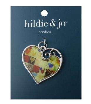 hildie & jo Patchwork Heart Pendant
