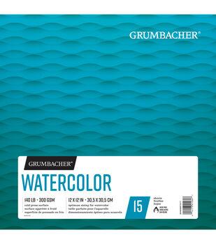"Grumbacher 12""x12"" Watercolor Pad-15 Sheets"