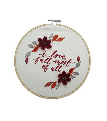 Simply Autumn Hoop-I Love Fall Most of All