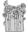 Stampendous Cling Rubber Stamp-Ranunculus Field