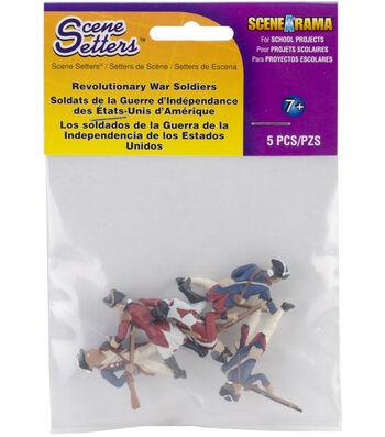 Scene-A-Rama Scene Setters 5 pk Revolutionary War Soldiers Figurines