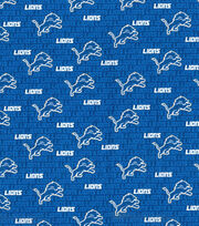 Detroit Lions Cotton Fabric -Mini Print, , hi-res