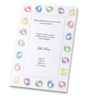 Wilton 12 ct. Baby Feet Invitation Kit