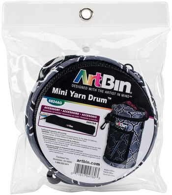 "ArtBin Mini Yarn Drum 5.7""X9.5""-Black & Gray"