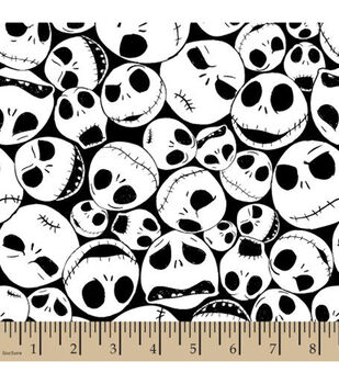 Nightmare Before Christmas Cotton Fabric-Packed Jack