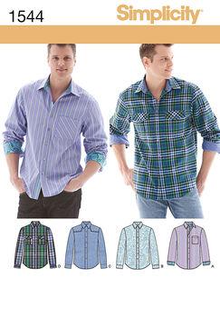 Simplicity Pattern 1544BB 44-46-48-5-Men Boy Tops Vests