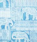 No Sew Fleece Throw 72\u0022-Elephant Aztec