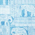 No Sew Fleece Throw Kit-Elephants & Aztec