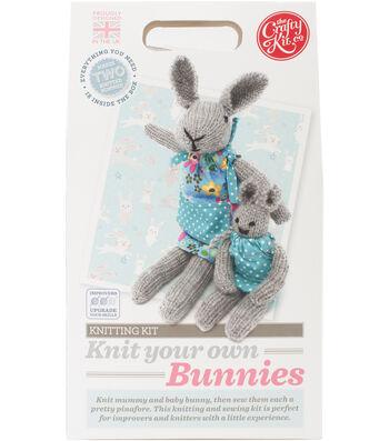 The Crafty Kit Co. Knitting Kit-Bunnies