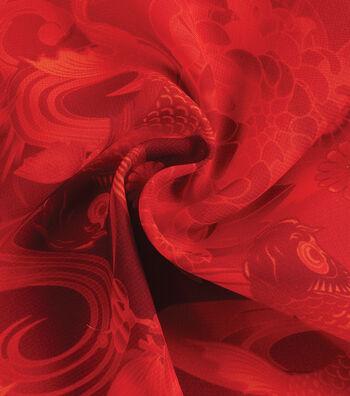 Yaya Han Cosplay Chiffon Fabric 59''-Red Koi