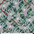 Super Snuggle Flannel Fabric-Tossed Gray Moose