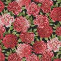 Premium Cotton Fabric-Asian Allover Floral Metallic