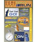 Karen Foster Marathon Cardstock Stickers 5.5\u0022X9\u0022-Born To Run