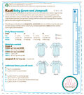 Kwik Sew Pattern K0226 Infants\u0027 Gown & Wrap-Front Jumpsuit-Size S-M-L-XL