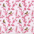 Snuggle Flannel Fabric-Birds & Floral
