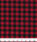 Christmas Cotton Fabric-Red & Black Buffalo Check