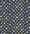 Patriotic Cotton Fabric-Blue Glitter Heart of America