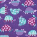 Blizzard Fleece Fabric -Purple Patterened Turtles