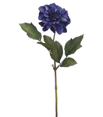 "Bloom Room 25"" Dahlia Stem-Blue"