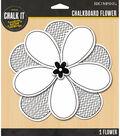 Chalk it Now - White Jumbo Chalkboard Flower