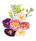 Prima Marketing Moon Child Fabric Flowers 12/Pkg-New Moon