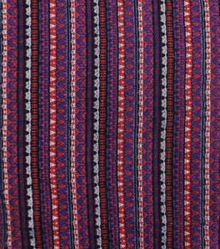Earth Child Jacquard Apparel Fabric -Linear Purple Aztec
