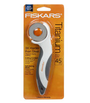 Fiskars Titanium Comfort Stick Rotary Cutter 45mm, , hi-res
