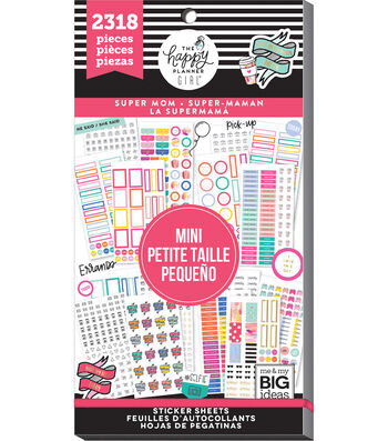 The Happy Planner Girl Value Pack Stickers-Super Mom Mini