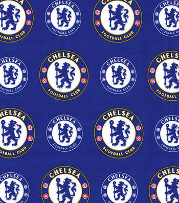 Chelsea Football Club Cotton Fabric 44''