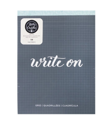 Kelly Creates 50-sheets 8.5''x11'' Paper Pad-Grid, Write On