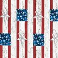 Patriotic Cotton Fabric-Galvanized Block Stars