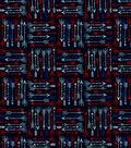 Quilter\u0027s Showcase Cotton Fabric 44\u0022-Patriotic Arrows on Dark Blue