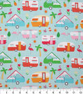Novelty Cotton Fabric-Summer Camping