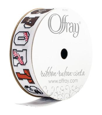 Offray Craft Ribbon-Sports Phrase