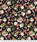 Christmas Cotton Fabric 44\u0022-Tossed Snowman Gifts