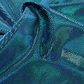 Performance Legacy Foil Velvet Apparel Fabric-Turquoise