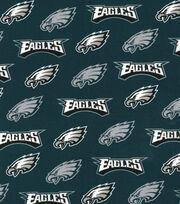 Philadelphia Eagles Cotton Fabric -Silver Glitter, , hi-res