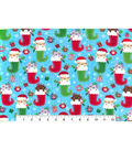 Christmas Flannel Fabric -Kittens in Stockings