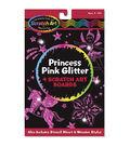 Melissa & Doug Scratch Art Board Set 6\u0022X10\u0022 4pk-Princess Pink Glitter