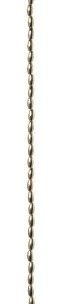 3 x 6mm Gold Metallic Oval Pearl Strand, 60 inch