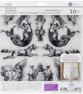 Iron Orchid Designs 10 pk Art Decor Fashion Clear Stamps-Fantastico