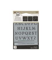 FolkArt 3 pk 3''x3'' Mini Stencils-Alphabet, , hi-res
