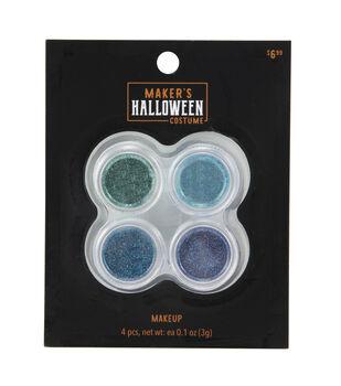 Maker's Halloween Costume Cosmetic Glitter Makeup Set-Peacock