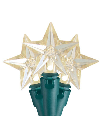 Maker's Holiday Christmas 20 ct Star LED Warm White String Lights