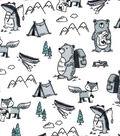 Nursery Flannel Fabric -Wild Animals