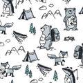 Nursery Flannel Fabric-Wild Animals
