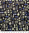 Glow in the Dark Flannel Fabric-Science Lab Glow