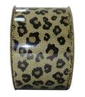 Decorative Ribbon 2.5\u0027\u0027 X 15\u0027-Flocked Cheetah