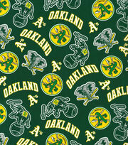 Oakland Athletics Cotton Fabric -Green Cooperstown, , hi-res