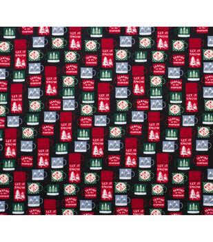 Super Snuggle Flannel Fabric-Let it Snow Mugs